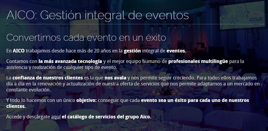 gestion integral de eventos