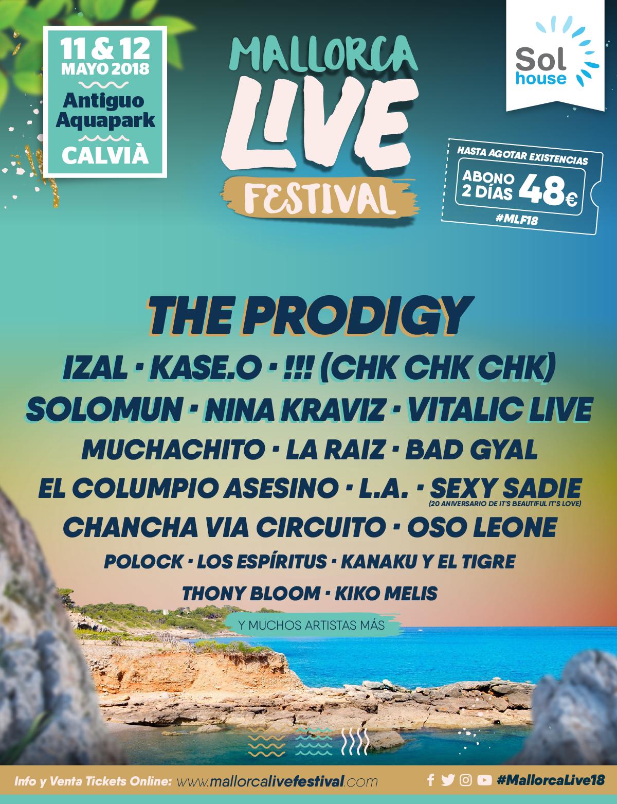 cartel mallorca life festival 2018